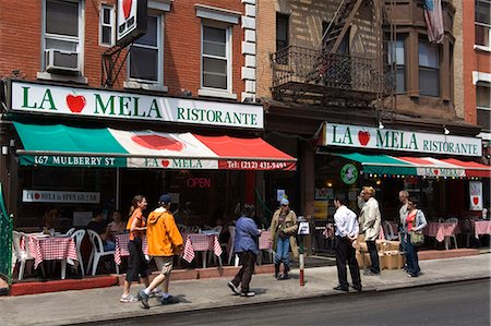 restaurant new york manhattan - Restaurant in Little Italy in Lower Manhattan, New York City, New York, United States of America, North America Stock Photo - Rights-Managed, Code: 841-03065617