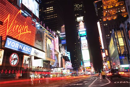 Times Square at night, Midtown, Manhattan, New York City, New York, United States of America, North America Stock Photo - Rights-Managed, Code: 841-03454415