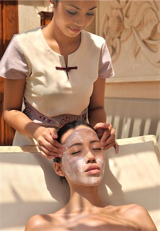 facial - Facial at the Chi Spa at Shangri La Boracay Resort and Spa in Boracay, Philippines, Southeast Asia, Asia Stock Photo - Rights-Managed, Code: 841-03489515