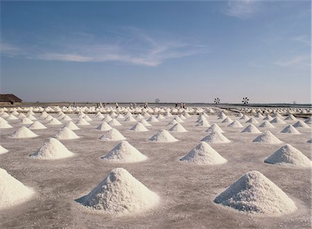 Salt flats, Thailand, Southeast Asia, Asia Stock Photo - Rights-Managed, Code: 841-03489543