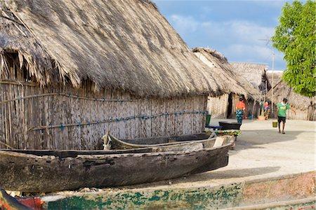 Thatched hut, Wichub-Wala Island, Comarca de Kuna Yala, San Blas Islands, Panama, Central America Stock Photo - Rights-Managed, Code: 841-03505195