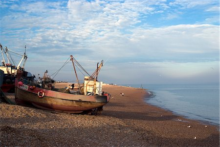 Fishing boats on pebble beach, Hastings, Sussex, England, United Kingdom, Europe Stock Photo - Rights-Managed, Code: 841-03505416