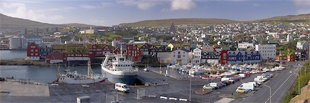 Panoramic view of Torshavn and harbour, capital of the Faroe Islands (Faroes), Denmark, Europe Stock Photo - Rights-Managed, Code: 841-03507823