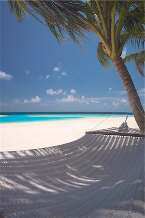 Hammock on beach, Maldives, Indian Ocean, Asia Stock Photo - Rights-Managed, Code: 841-03518365