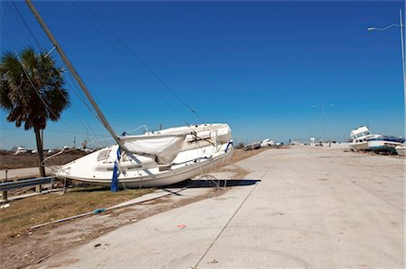 sailing boat storm - Hurricane damage, Galveston, Texas, United States of America, North America Stock Photo - Rights-Managed, Code: 841-03518445