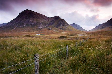 Isolated cottage on the moorland between Rannoch Moor and Glencoe, Highlands, Scotland, United Kingdom, Europe Stock Photo - Rights-Managed, Code: 841-03518674