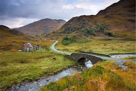 Abandoned cottage near Kinloch Hourn in the Highlands, Scotland, United Kingdom, Europe Stock Photo - Rights-Managed, Code: 841-03518685