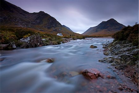 Lagangarbh cottage beside in River Coupall in Glen Coe, Highlands, Scotland, United Kingdom, Europe Stock Photo - Rights-Managed, Code: 841-03518680