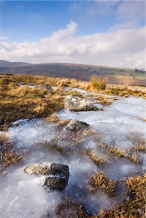 dartmoor national park - Ice on frozen moorland at Belstone Common, Dartmoor National Park, Devon, England, United Kingdom, Europe Stock Photo - Rights-Managed, Code: 841-03518707