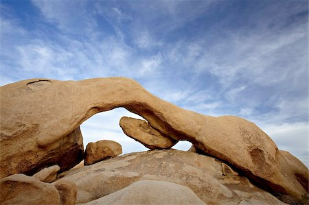 The arch at White Tank Campground, Joshua Tree National Park, California, United States of America, North America Stock Photo - Rights-Managed, Code: 841-03674437