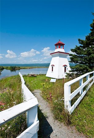 Anderson Hallow Lighthouse in Riverside-Albert, New Brunswick, Canada, North America Stock Photo - Rights-Managed, Code: 841-03675039