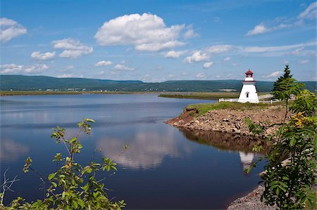 Anderson Hallow Lighthouse in Riverside-Albert, New Brunswick, Canada, North America Stock Photo - Rights-Managed, Code: 841-03675041