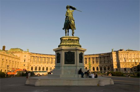 The Hofburg Palace on the Heldenplatz, Vienna, Austria, Europe Stock Photo - Rights-Managed, Code: 841-03676112
