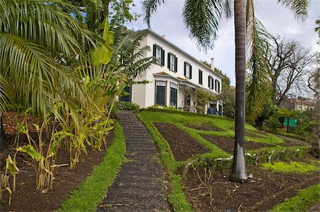 Old house in the Botanical Garden, Funchal, Madeira, Portugal, Europe Stock Photo - Rights-Managed, Code: 841-03676172