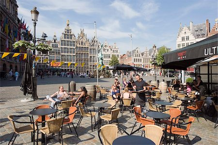 placing - Outdoor cafe, Grote Markt, Antwerp, Flanders, Belgium, Europe Stock Photo - Rights-Managed, Code: 841-03673042