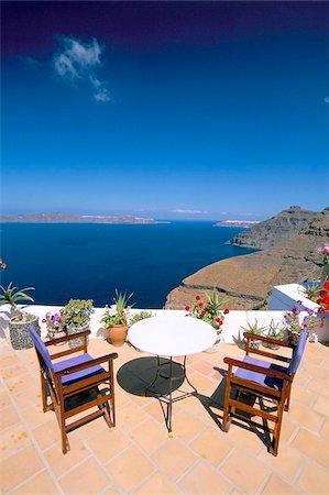santorini - Fira, island of Santorini (Thira), Cyclades Islands, Aegean, Greek Islands, Greece, Europe Stock Photo - Rights-Managed, Code: 841-03673233