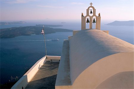 Imerovigli, island of Santorini (Thira), Cyclades Islands, Aegean, Greek Islands, Greece, Europe Stock Photo - Rights-Managed, Code: 841-03673243