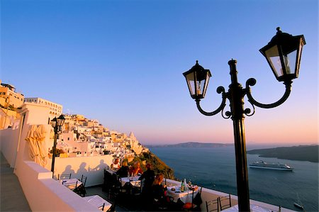 Fira, island of Santorini (Thira), Cyclades Islands, Aegean, Greek Islands, Greece, Europe Stock Photo - Rights-Managed, Code: 841-03673250