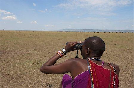 Masai guide, Masai Mara, Kenya, East Africa, Africa Stock Photo - Rights-Managed, Code: 841-03673550