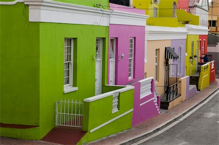 painted - Bo-Kaap district, Cape Town, South Africa, Africa Stock Photo - Rights-Managed, Code: 841-03673608
