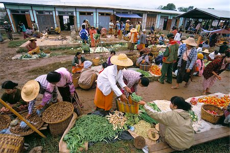 placing - Market, Heho, Shan State, Myanmar (Burma), Asia Stock Photo - Rights-Managed, Code: 841-03673832