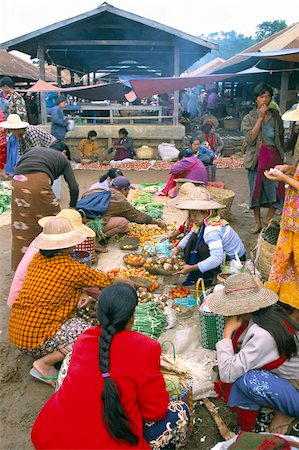 placing - Market, Heho, Shan State, Myanmar (Burma), Asia Stock Photo - Rights-Managed, Code: 841-03673846