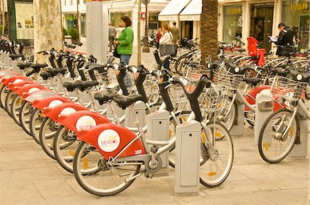 renting - Rent a bike service, Seville, Andalucia, Spain, Europe Stock Photo - Rights-Managed, Code: 841-03868113
