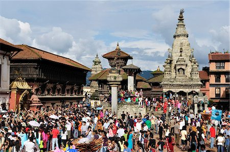 Sa-Paru Gaijatra Festival, Durbar Square, Bhaktapur, UNESCO World Heritage Site, Bagmati, Central Region, Nepal, Asia Stock Photo - Rights-Managed, Code: 841-03868874