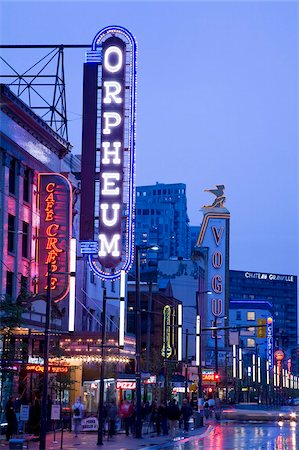 placing - Orpheum Theatre on Granville Street, Vancouver, British Columbia, Canada, North America Stock Photo - Rights-Managed, Code: 841-03869606