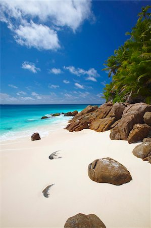 seychelles - Deserted beach, La Digue, Seychelles, Indian Ocean, Africa Stock Photo - Rights-Managed, Code: 841-03869764