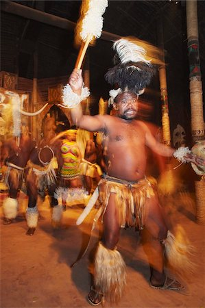 Dancers performing traditional Zulu dance, Shakaland, Eshowe, Zululand, KwaZulu-Natal, South Africa, Africa Stock Photo - Rights-Managed, Code: 841-03870148