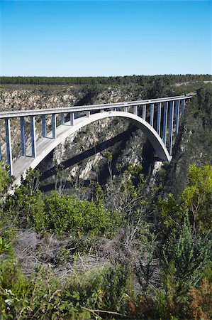 Bloukrans River Bridge, site of world's highest bungy jump, Storms River, Eastern Cape, South Africa, Africa Stock Photo - Rights-Managed, Code: 841-03870153