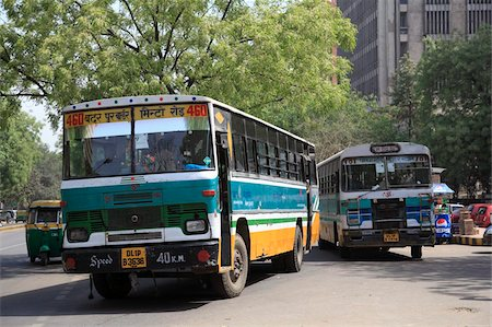 Buses, New Delhi, India, Asia Stock Photo - Rights-Managed, Code: 841-03870334