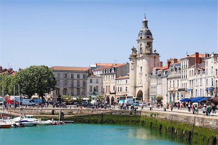 placing - The Great Clock Tower by the harbour, La Rochelle, Charente-Maritime, France, Europe Stock Photo - Rights-Managed, Code: 841-03870501