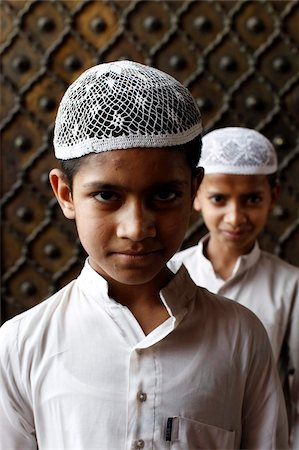 east indian (male) - Muslim boys in Jamma Masjid (Delhi Great Mosque), Delhi, India, Asia Stock Photo - Rights-Managed, Code: 841-03870661