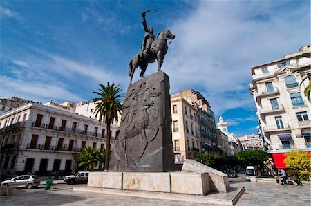 placing - The statue of Abdel Kader at Place Abdel Kader, Algiers, Algeria, North Africa, Africa Stock Photo - Rights-Managed, Code: 841-03871089