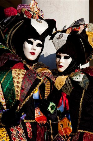 Costumes and masks during Venice Carnival, Venice, Veneto, Italy, Europe Stock Photo - Rights-Managed, Code: 841-03871328