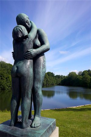 Mother and,daughter, by Gustav Vigeland, sculptures in bronze in Vigeland Sculpture Park, Frognerparken, Oslo, Norway, Scandinavia, Europe Stock Photo - Rights-Managed, Code: 841-03871687