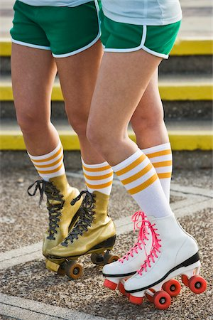 roller skate - Legs of women in rollerskates Stock Photo - Rights-Managed, Code: 842-05979348