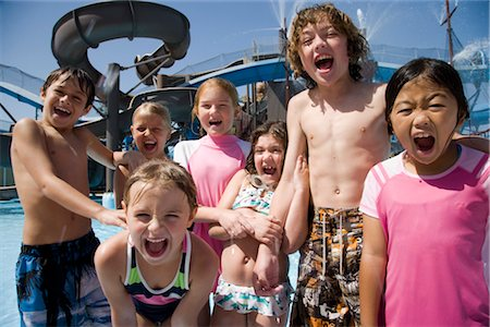 Happy kids at a water park Stock Photo - Rights-Managed, Code: 842-02653650