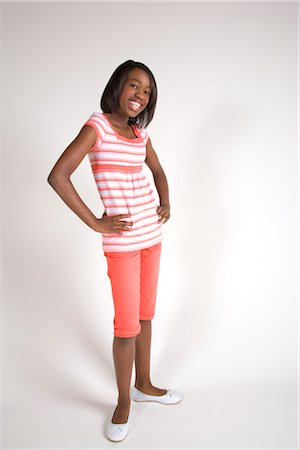 seamless - Portrait of teenage African American girl, studio shot Stock Photo - Rights-Managed, Code: 842-02751653