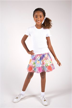 seamless - Portrait of young African American girl, studio shot Stock Photo - Rights-Managed, Code: 842-02751663