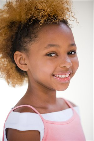 seamless - Portrait of African American teenage girl, studio shot Stock Photo - Rights-Managed, Code: 842-02751680