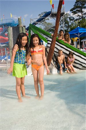 Girls at water park in summer Stock Photo - Rights-Managed, Code: 842-03200225