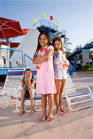 Girls at water park in summer Stock Photo - Rights-Managed, Code: 842-03200290