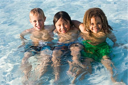 Multi-ethnic boys in swimming pool Stock Photo - Rights-Managed, Code: 842-03200330