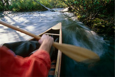 quest - Person canoeing in Campbell Creek SC Alaska summer Stock Photo - Rights-Managed, Code: 854-02954927