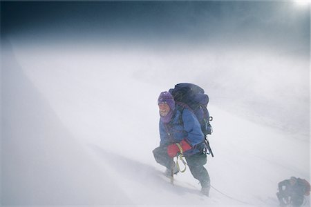 quest - Mountain Climbers Climbing Up Chugach Mts SC AK Storm Winter Frosted face Stock Photo - Rights-Managed, Code: 854-02955036