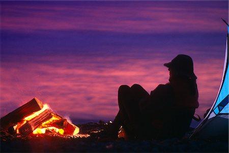 People Camping @ Anchor River Kenai Peninsula Alaska Summer Scenic Stock Photo - Rights-Managed, Code: 854-02955064