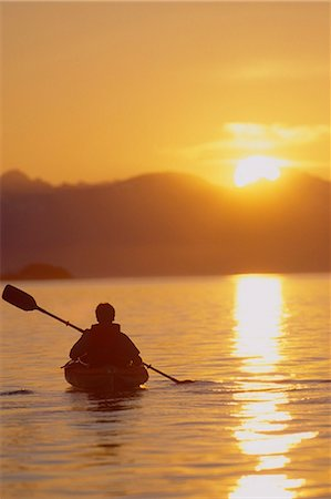 fun happy colorful background images - Sea Kayaking Lynn Canal Sunset Chilkat Mts SE AK/nInside Passage Stock Photo - Rights-Managed, Code: 854-02955146